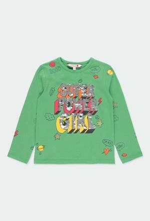 """Camiseta punto """"super power girl"""" de niñ_1"""