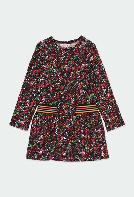 Vestido felpa topitos de niña_1