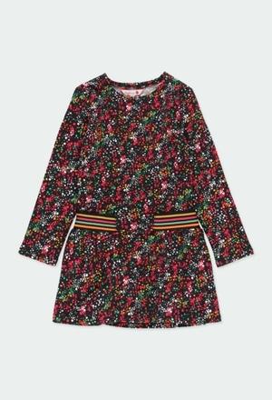 Fleece dress polka dot for girl_1