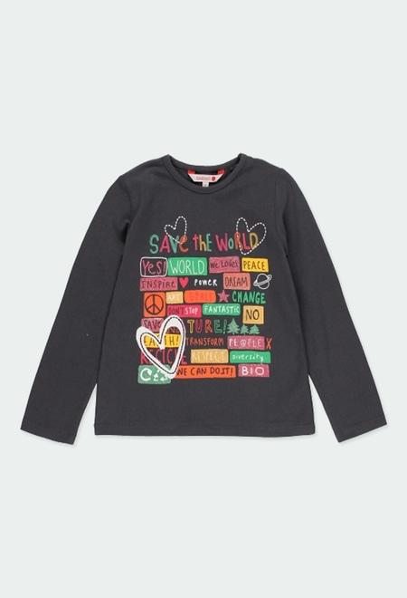 """T-Shirt gestrickt """"buchstaben"""" für mädchen_1"""