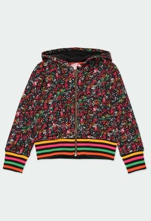 Fleece jacket polka dot for girl_1