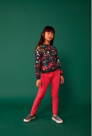 Sweatshirt felpa bolinhas para menina_1