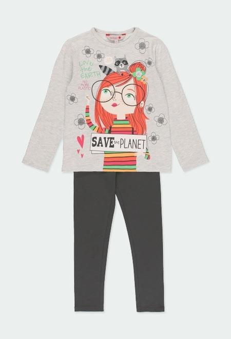 """Pack punto """"save the planet"""" de niña_1"""