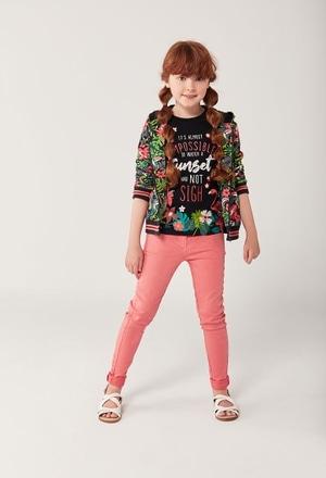 """Camiseta malha """"flamenco"""" para menina_1"""