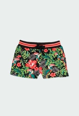 Short felpa tropical de niña_1