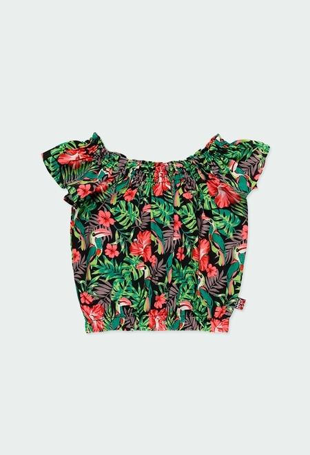 Blusa viscosa tropical de niña_1
