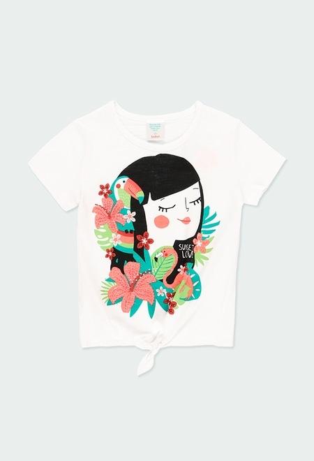 Camiseta punto con lazo de niña_1