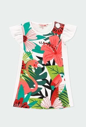 Vestido punto tropical de niña_1