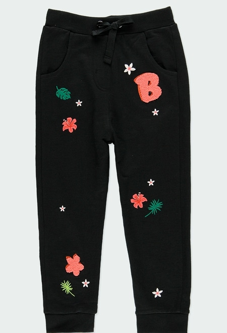 Fleece trousers flame with cuffs for girl_1