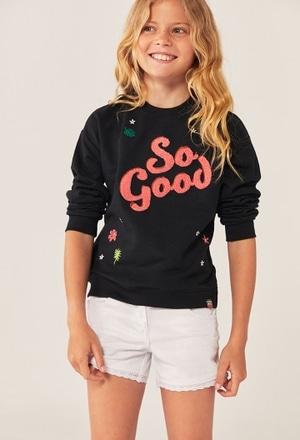 Fleece sweatshirt flame for girl_1