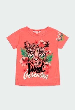 """Camiseta punto flamé """"tigre"""" de niña_1"""