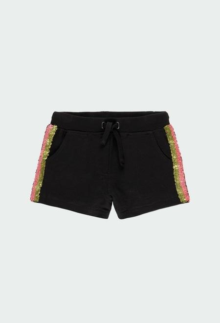 Fleece bermuda shorts flame for girl_1