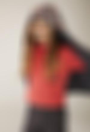 T-Shirt cotêlé col roulé pour fille