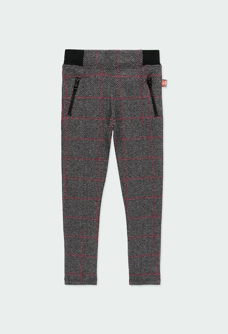 Knit trousers for girl_1