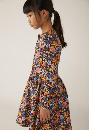 Vestido viella floral para menina_1