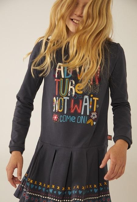 "Knit dress ""adventure"" for girl_1"