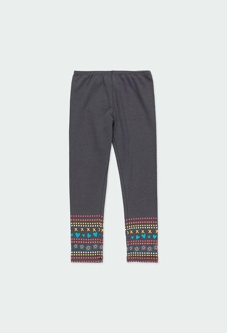 """Leggings knit """"friezes"""" for girl_1"""