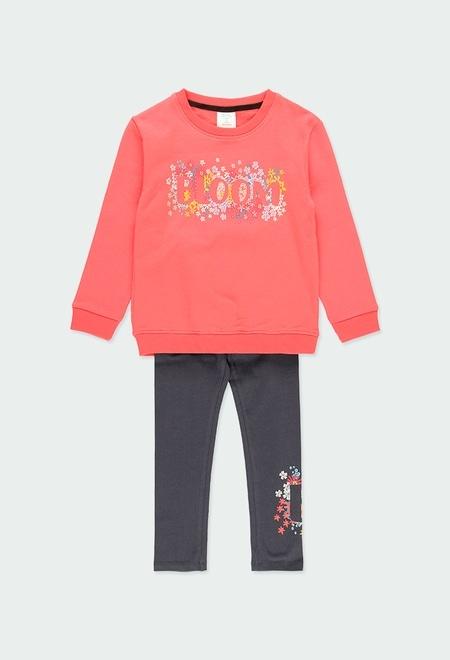 """Pack en tricot bi matiere """"a fleurs"""" pour fille_1"""