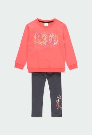 """Pack punto combinado """"floral"""" de niña_1"""