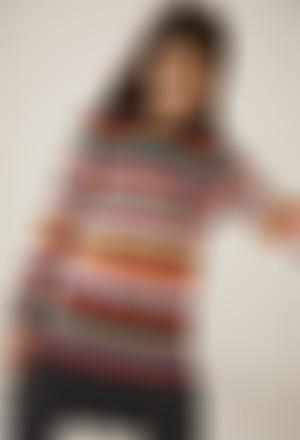 Vestito maglieria a righe per ragazza