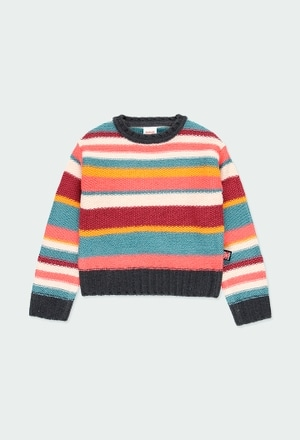 Knitwear pullover striped for girl_1
