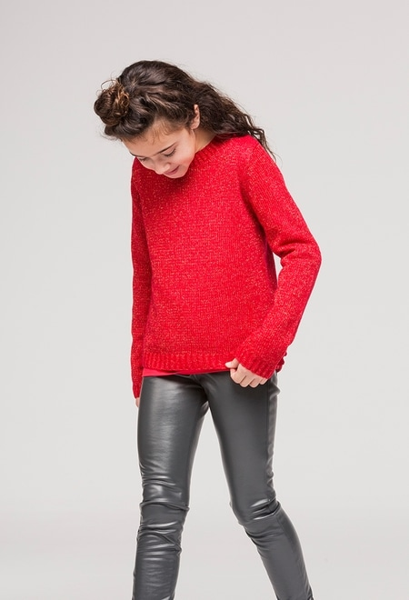 Trousers fake fur for girl_1