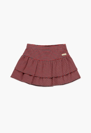 Stretch knit skirt for girl_1