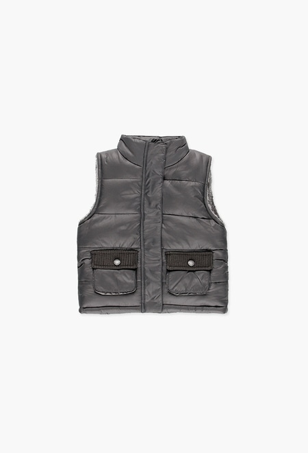 Technical fabric vest for girl_1