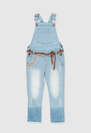Denim jumpsuit for girl_1
