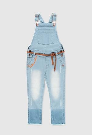 Salopette en jean pour fille_1