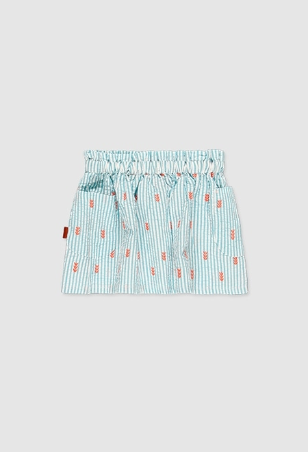 Poplin skirt for girl_1