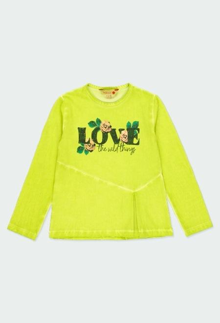 """T-Shirt gestrickt """"bbl love"""" für mädchen_1"""