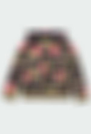 Fleece jacket floral for girl