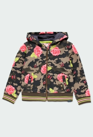 Fleece jacket floral for girl_1