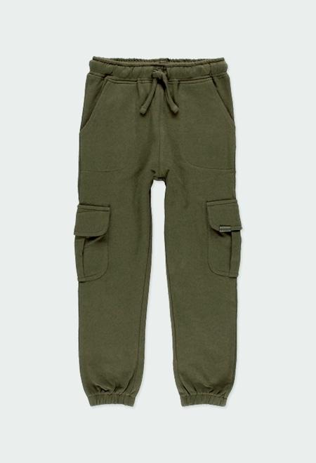 Pantalón felpa con bolsillos de niña_1