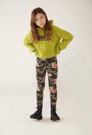 Sweatshirt com capuz para menina_1