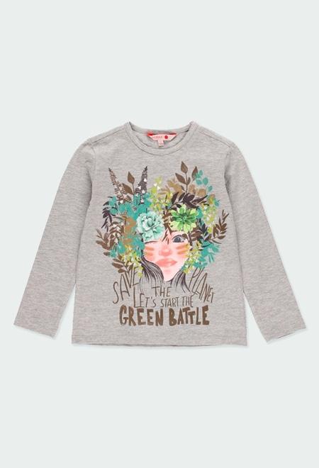 """Camiseta punto """"save the planet"""" de niña_1"""