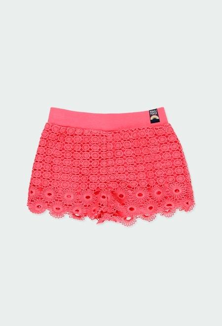 Guipur bermuda shorts for girl_1