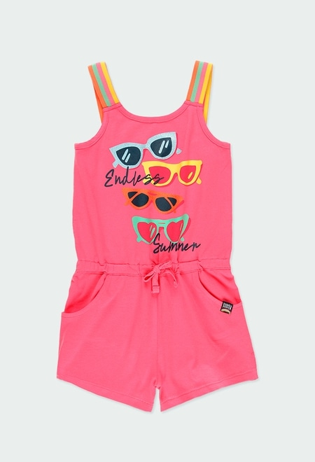 "Knit jumpsuit suspenders ""glasses"" for girl_1"
