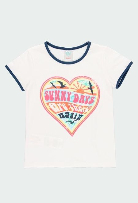 "Knit t-Shirt ""heart"" for girl_1"