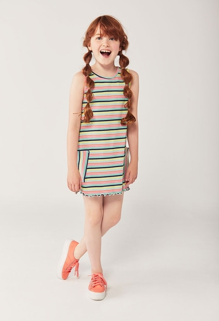 Kleid gestreift für mädchen_1