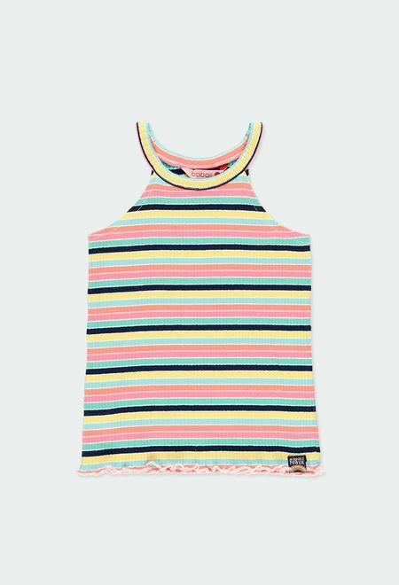 Camiseta punto canalé tirantes de niña_1