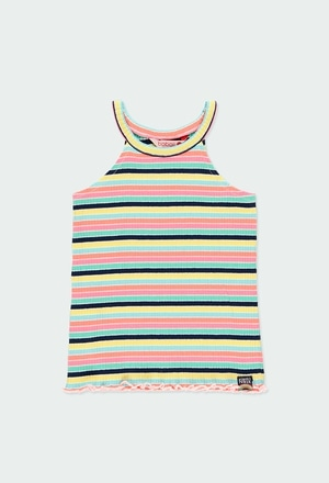 Knit t-Shirt suspenders for girl_1