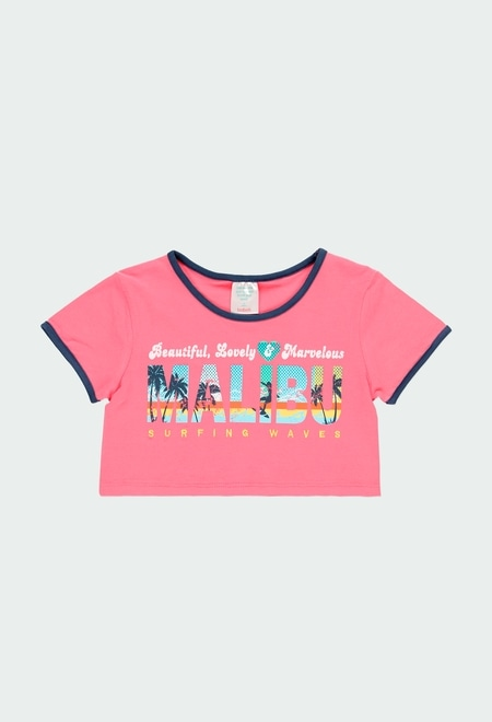 "T-Shirt tricot ""surfing"" pour fille_1"