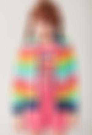 Fleece jacket striped for girl