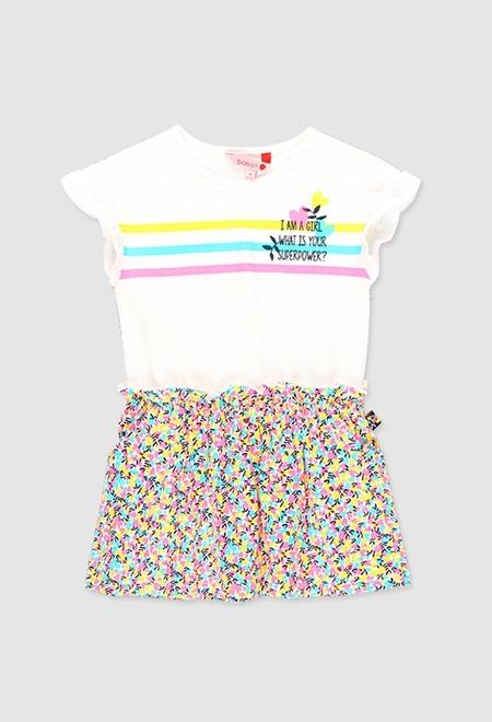 Vestido punto elástico de niña_1