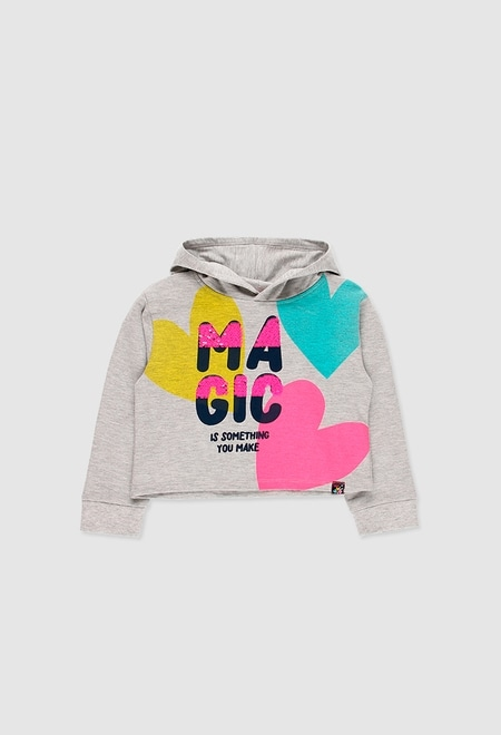 Fleece hooded sweatshirt for girl_1
