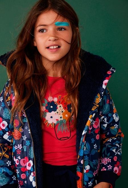 """Camiseta malha """"floral"""" para menina_1"""