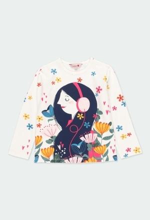 "Knit t-Shirt ""bbl love"" for girl_1"
