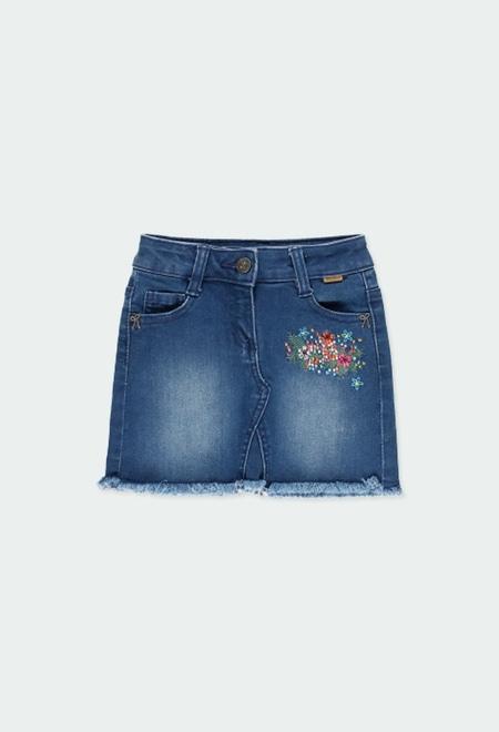 Denim stretch skirt for girl_1